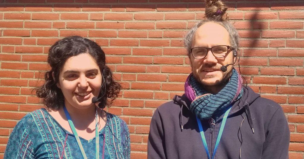 Nihal Rigab och Christopher Holmbäck leder kursen Språkrättvisetolk